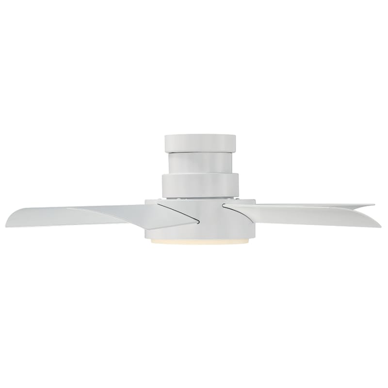 Modern Forms Fh W1802 38l Mw Matte White Vox 38 5 Blade Hugger Indoor Outdoor Smart Ceiling Fan With Led Luminary And Wall Control Lightingdirect Com