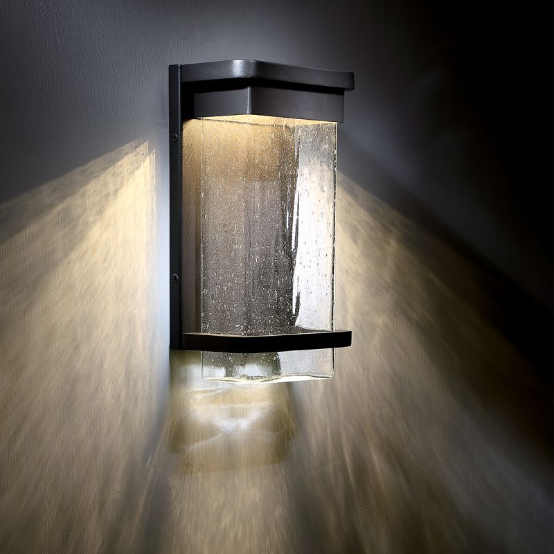 modern sconces lighting. Modern Forms WS-W32516-BZ Bronze Vitrine 1 Light LED Indoor / Outdoor Lantern Wall Sconce - 6.5 Inches Wide LightingDirect.com Sconces Lighting