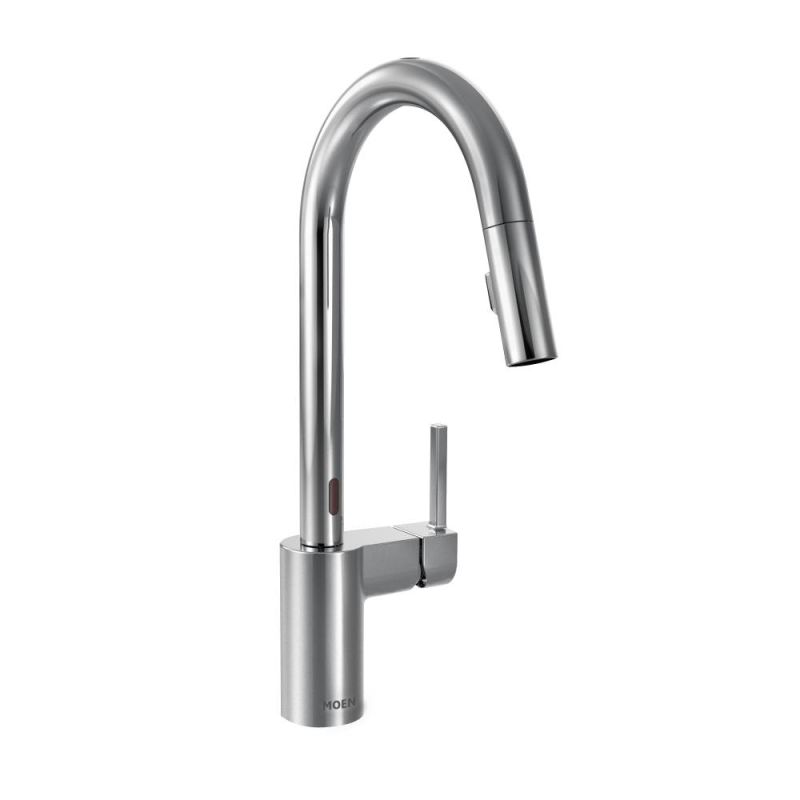 Moen 7565ESRS Spot Resist Stainless Align Metal Touchless Pullout Spray High  Arc Kitchen Faucet With Spout Swivel, MotionSense™, And Reflex™ Technology  ...