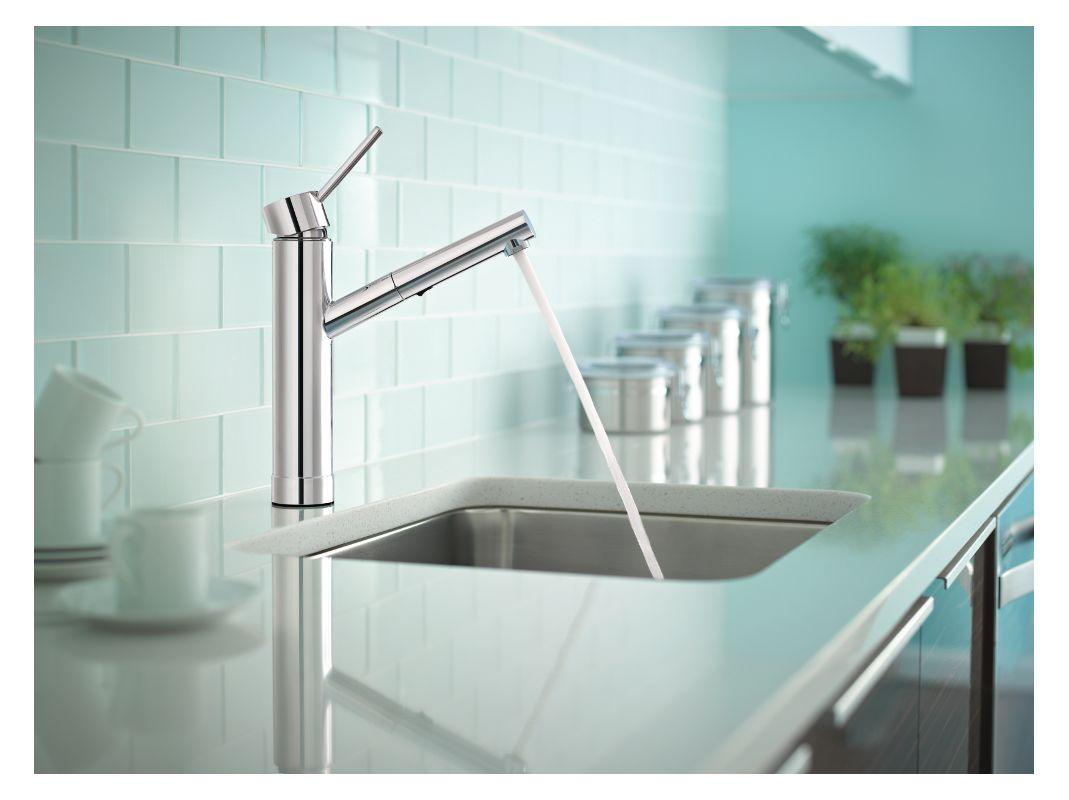 Moen 7626C Chrome Tilt Pull-Out Kitchen Faucet - Faucet.com