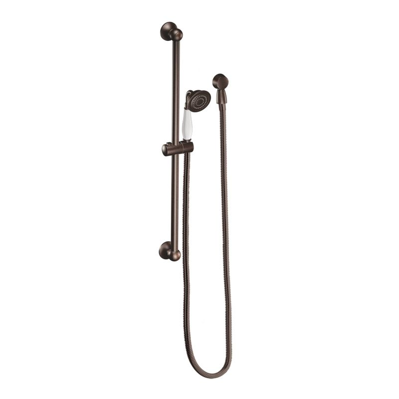 moen 3025orb oil rubbed bronze pressure balanced shower system with rain shower diverter and hand shower from the weymouth collection valves included