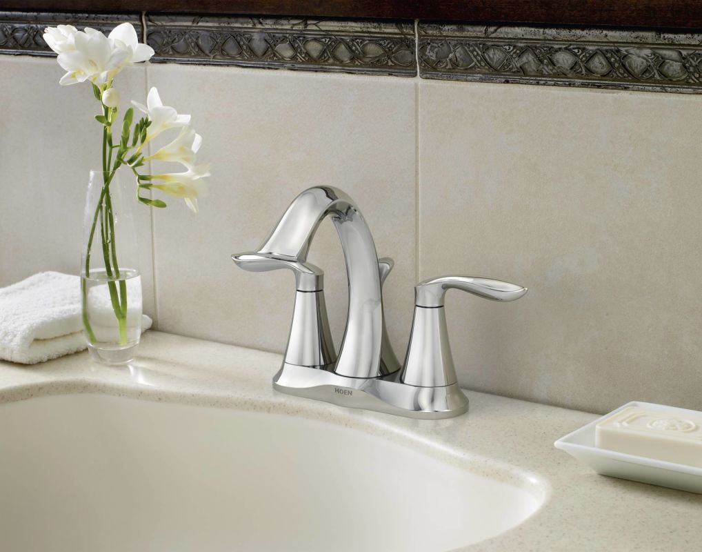 Moen 6410 Chrome Double Handle Centerset Bathroom Faucet from the ...