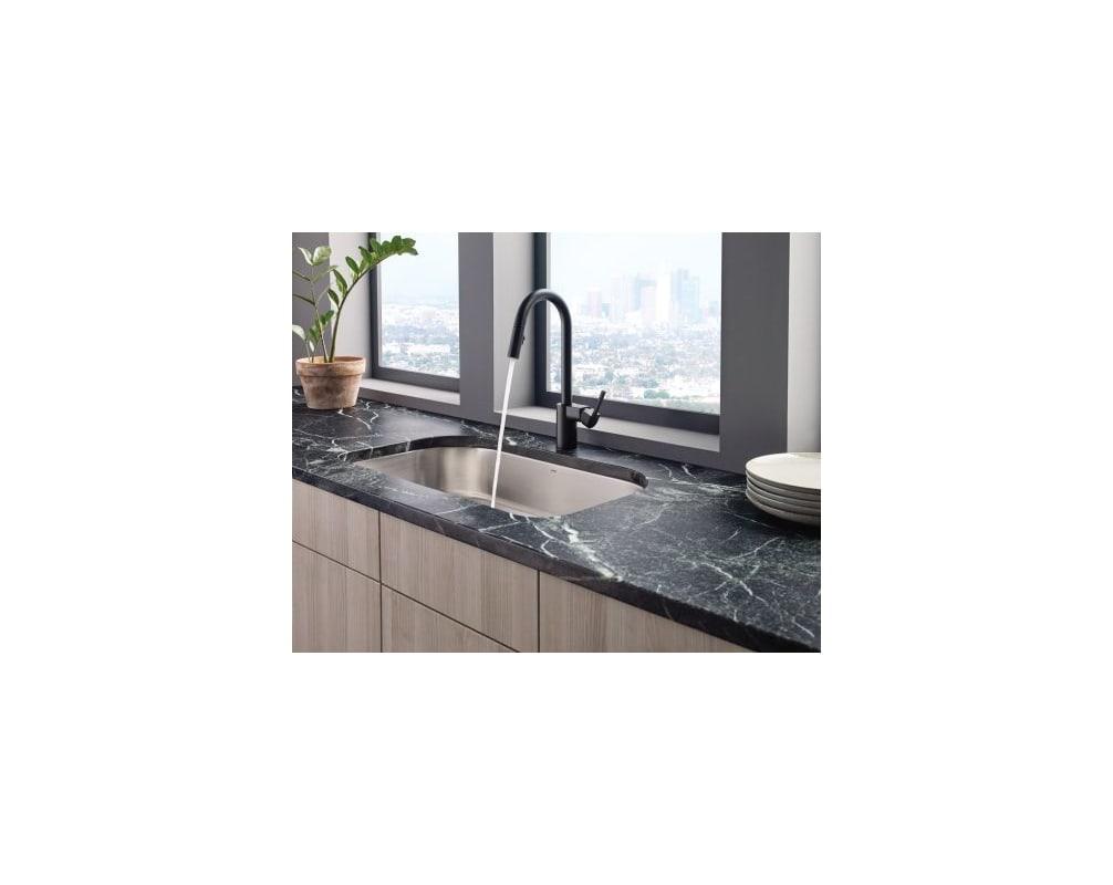 Moen 7565 Chrome Align Pull-Down Spray Kitchen Faucet - Faucet.com