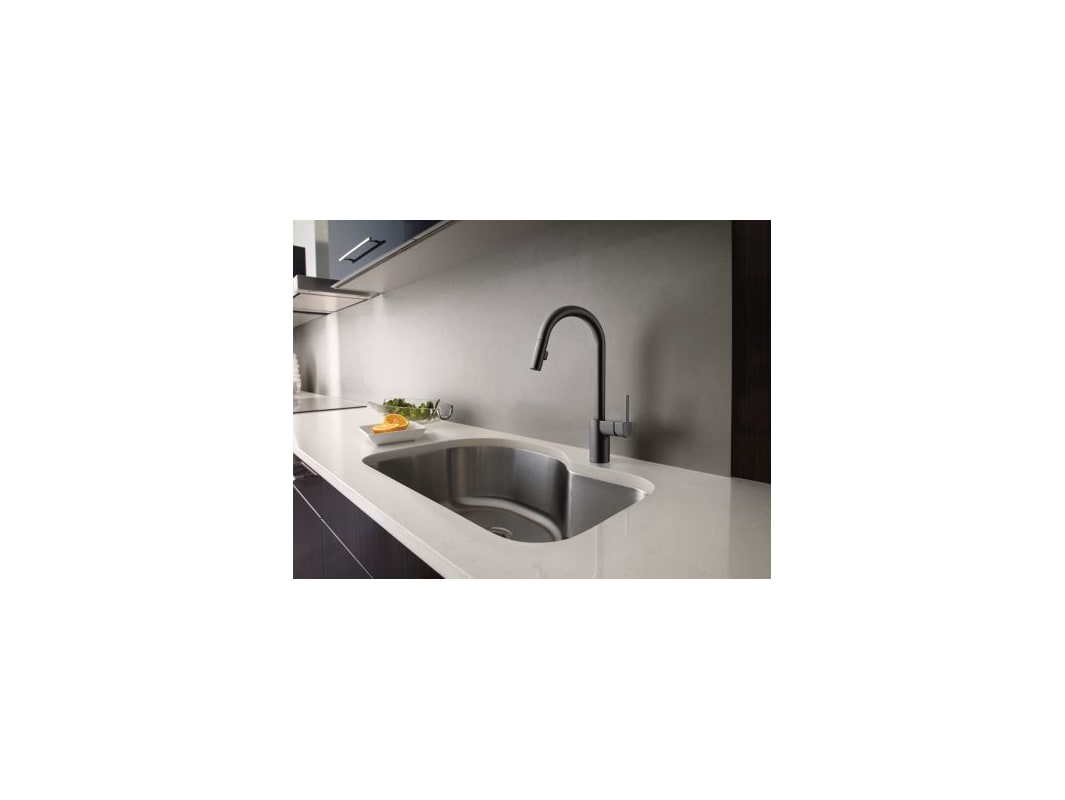 Moen 7565BL Matte Black Align Pull-Down Spray Kitchen Faucet ...
