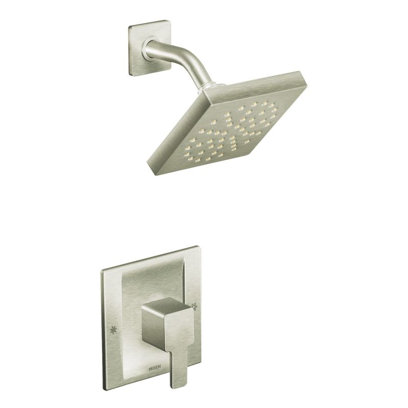 Superbe Moen 825BN Brushed Nickel Posi Temp Shower System With Rain Shower,  Diverter, And Hand Shower From The 90 Degree Collection (Valves Included)    Faucet.com