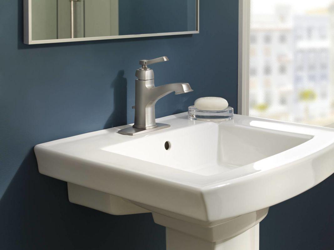 Moen 84805 Chrome Single Handle Single Hole Bathroom Faucet from the ...