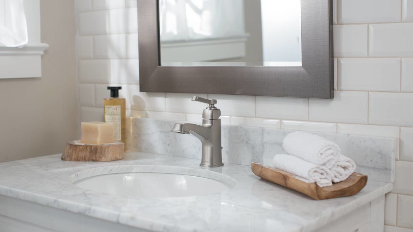 Bathroom Faucet From The Boardwalk Collection Valve Moen 84805srn Spot Resist Brushed Nickel Single Handle Hole