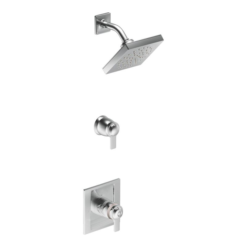 Moen 870BN Brushed Nickel Thermostatic Shower System with Rain ...