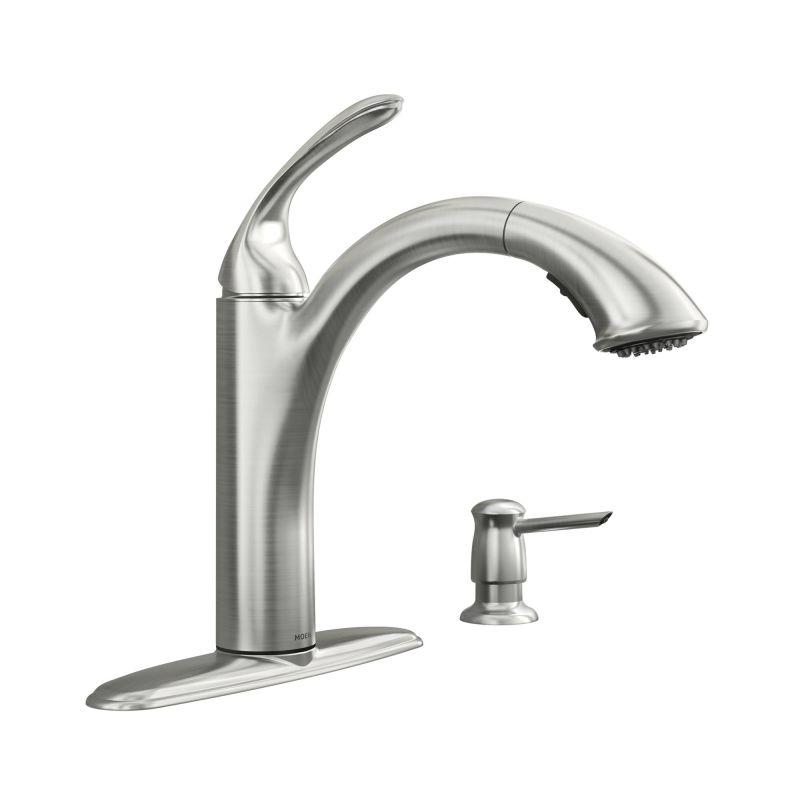 Moen 87035SRS Spot Resist Stainless Pullout Spray Kitchen Faucet ...