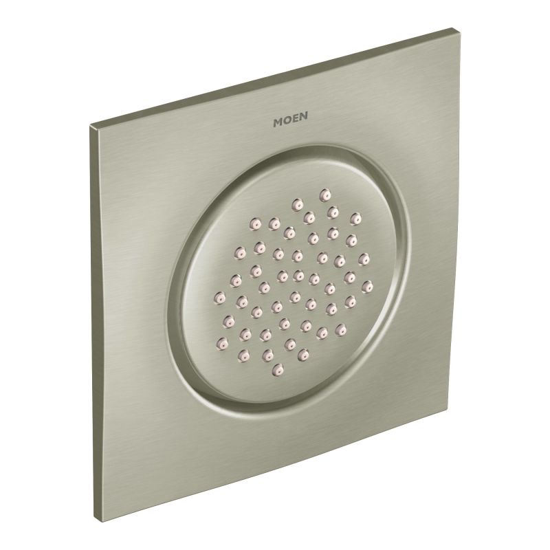 Moen 876BN Brushed Nickel Thermostatic Shower System with Rain ...