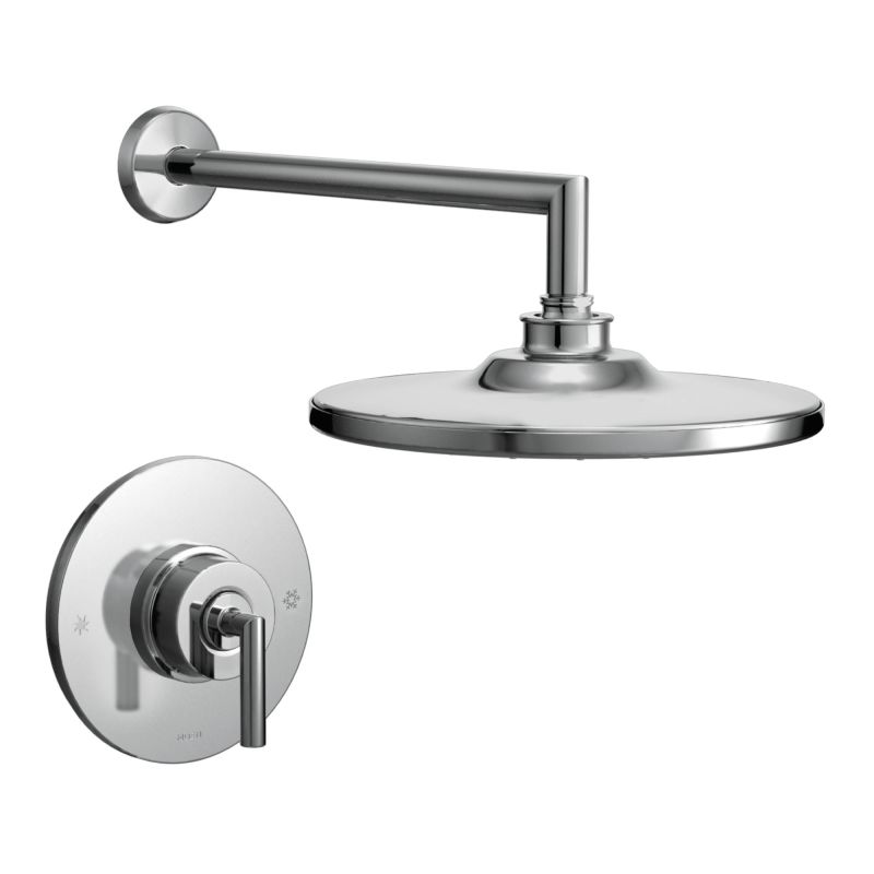 moen 925bn brushed nickel pressure balanced shower system with rain shower diverter and hand shower from the arris collection valves included