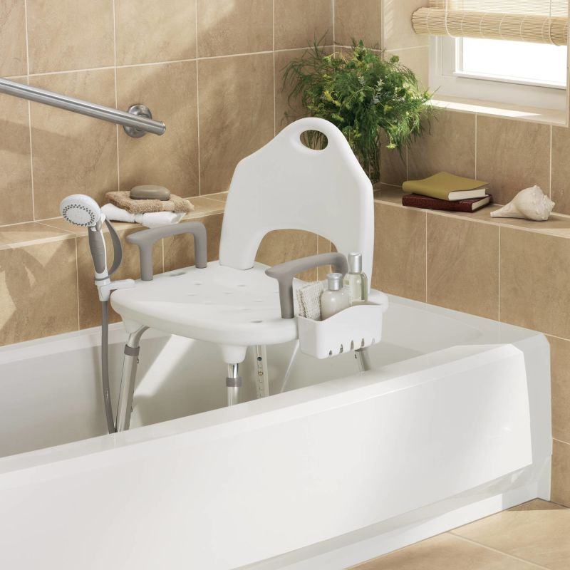 Superbe Moen CSIDN7060 Glacier Adjustable Shower Seat With Seat Back From The Home  Care Collection   Faucet.com