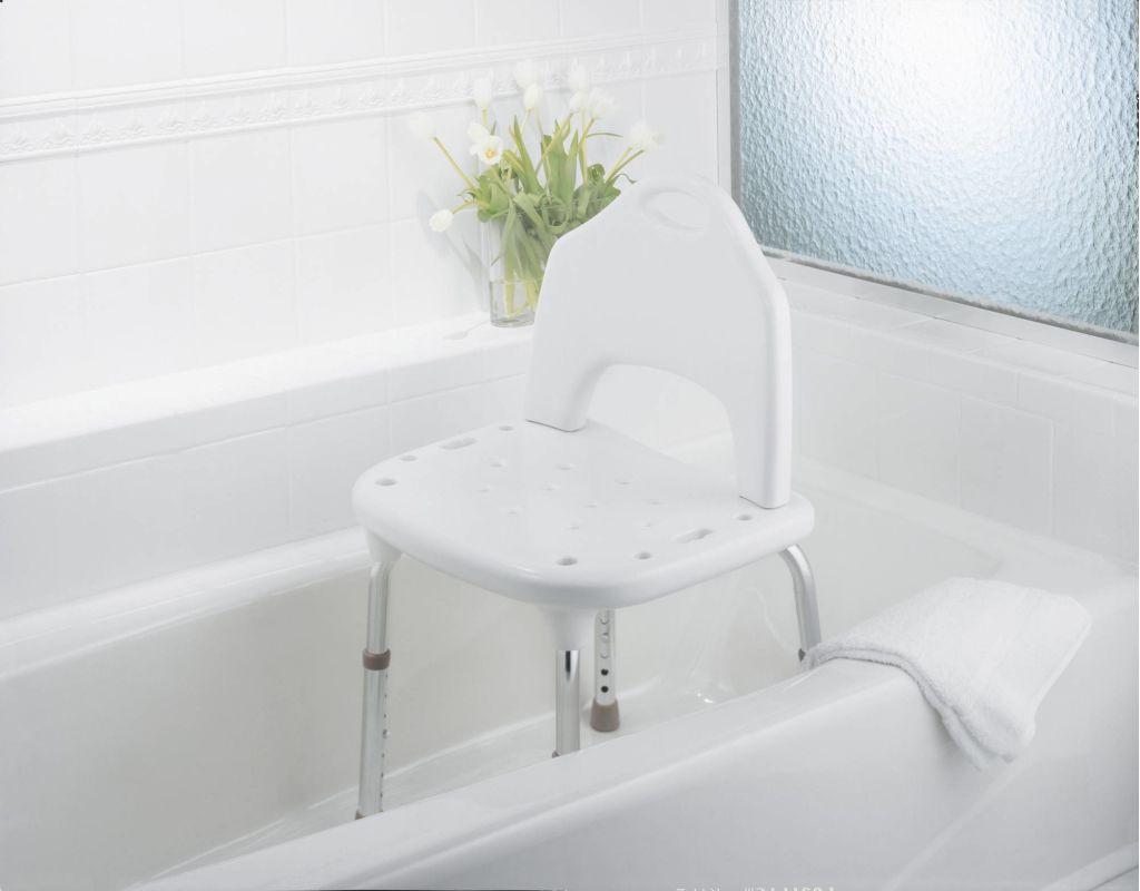 Moen CSIDN7060 Glacier Adjustable Shower Seat with Seat Back from ...