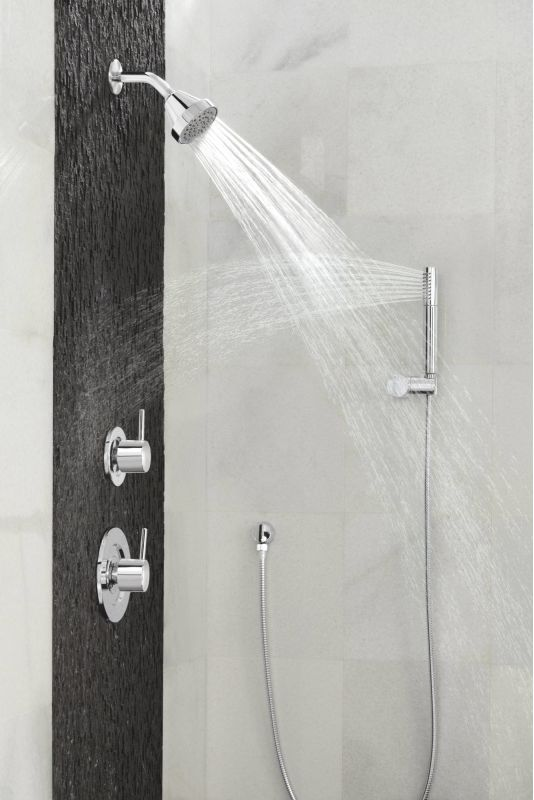 moen s11705ep chrome single function hand shower package with hose included from the fina collection