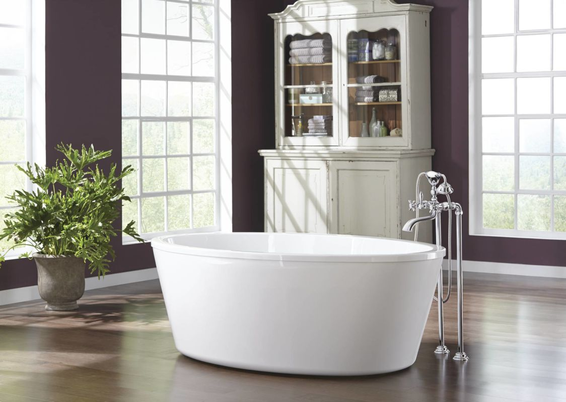 Moen S22105BN Brushed Nickel Weymouth Wall Mounted Clawfoot Tub ...