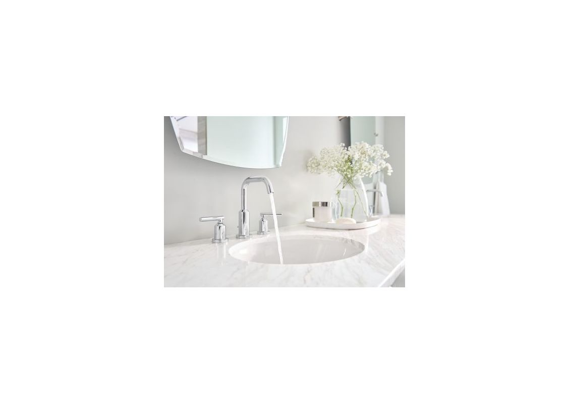 Moen T6142 Chrome Gibson Widespread Bathroom Sink Faucet - Includes ...