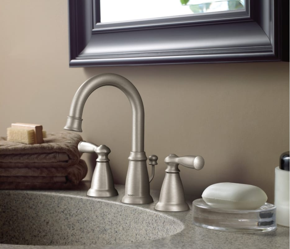 Moen Ws84924brb Mediterranean Bronze Banbury 1 2 Gpm Widespread Bathroom Faucet With Duralock Technology