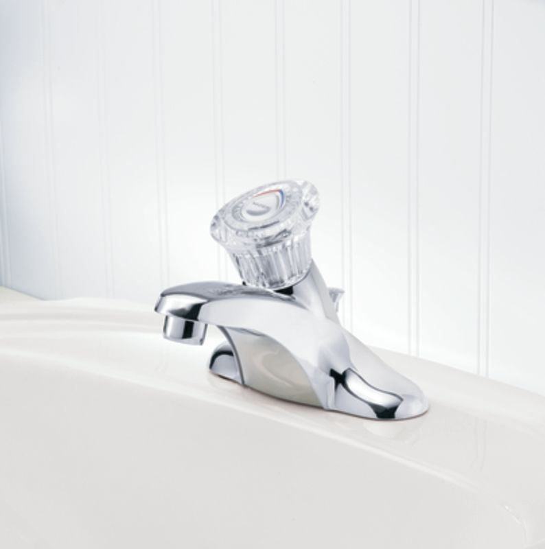 Moen 4621 Chrome Single Handle Centerset Bathroom Faucet From The Chateau  Collection (Valve Included)   Faucet.com