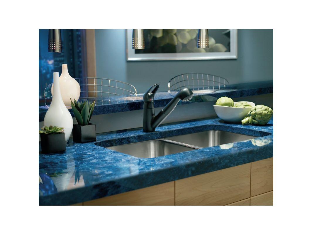 Moen 7570BL Matte Black Single Handle Kitchen Faucet with Pullout ...