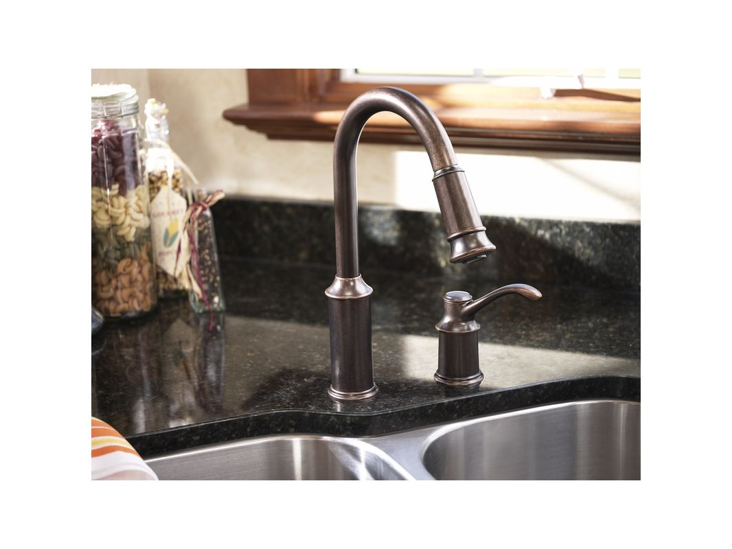 Genial Moen 7590C Chrome Single Handle Pulldown Spray Kitchen Faucet With Reflex  Technology From The Aberdeen Collection   Faucet.com