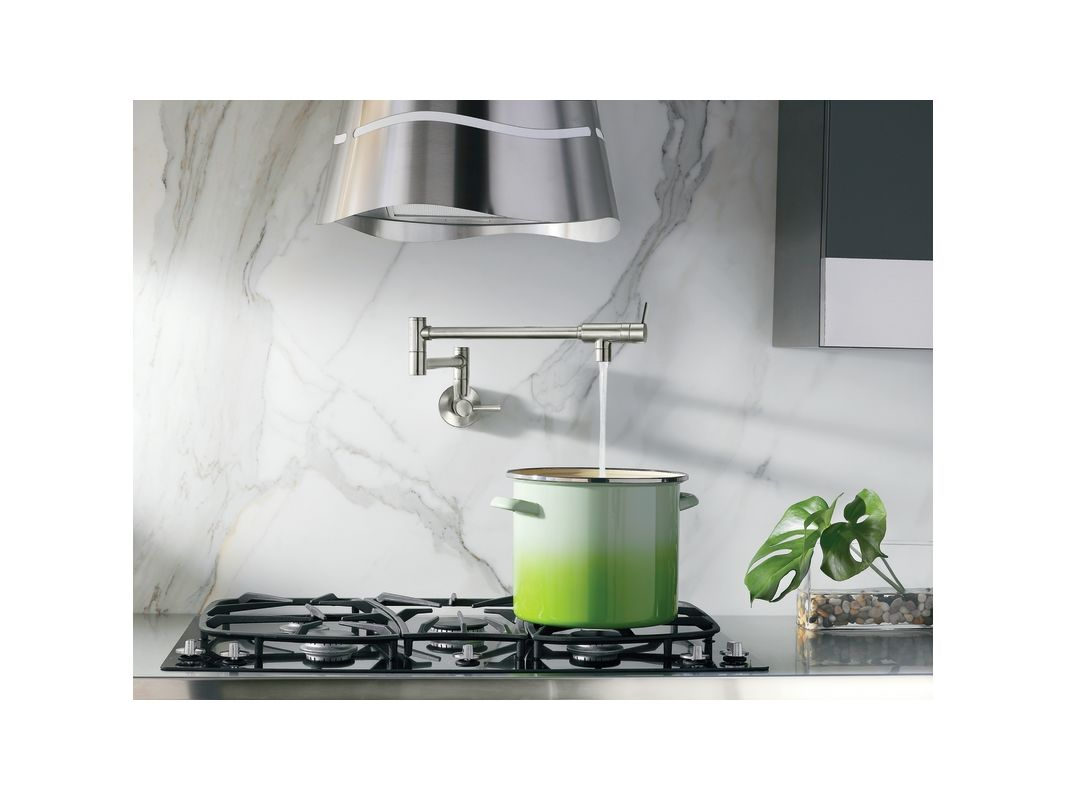 Moen S6SRS Spot Resist Stainless Double Handle Wall Mount Kitchen ...