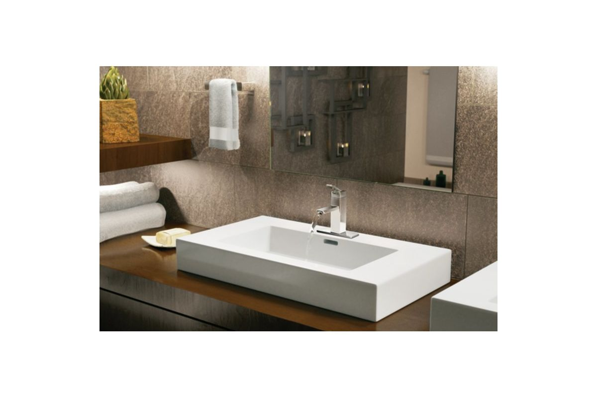 Moen S6700 Chrome Single Handle Single Hole Bathroom Faucet from the ...