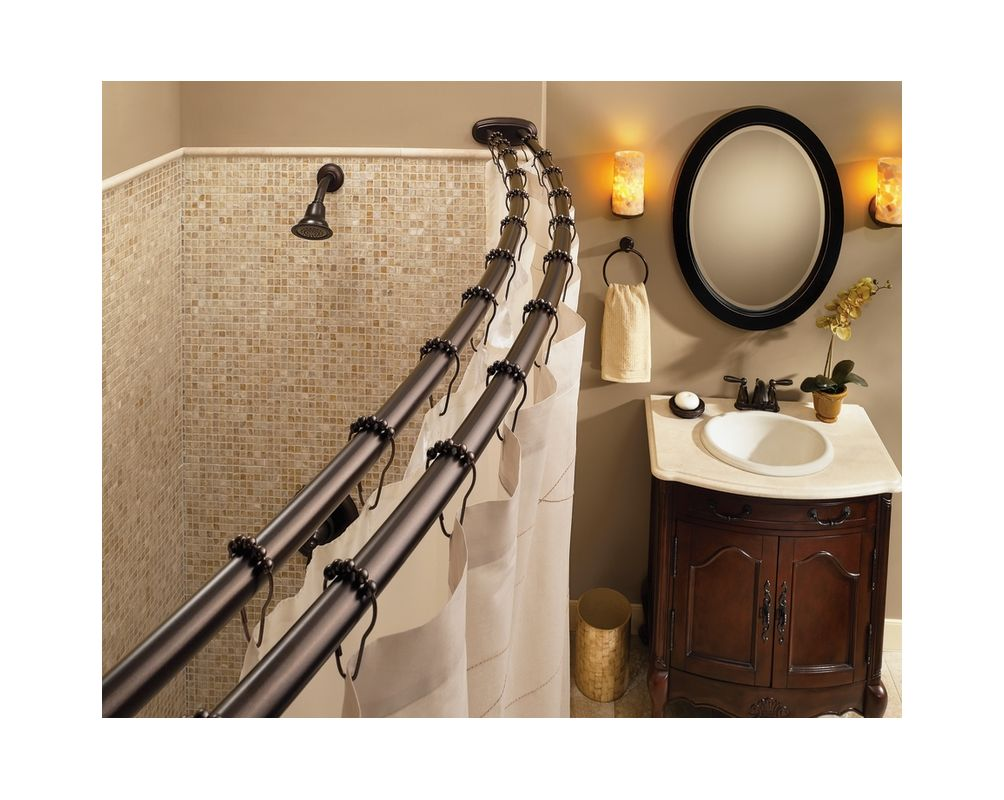 Moen CSISR2100OWB Old World Bronze Shower Curtain Roller Rings Set Of 12