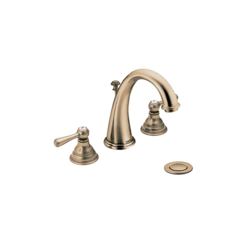 Moen T6125BN 9000 Brushed Nickel Double Handle Widespread Bathroom Faucet  From The Kingsley Collection (Valve Included)   Faucet.com