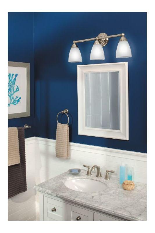 Bathroom Light Fixtures Moen moen t6620 chrome brantford 1.2 gpm widespread bathroom faucet