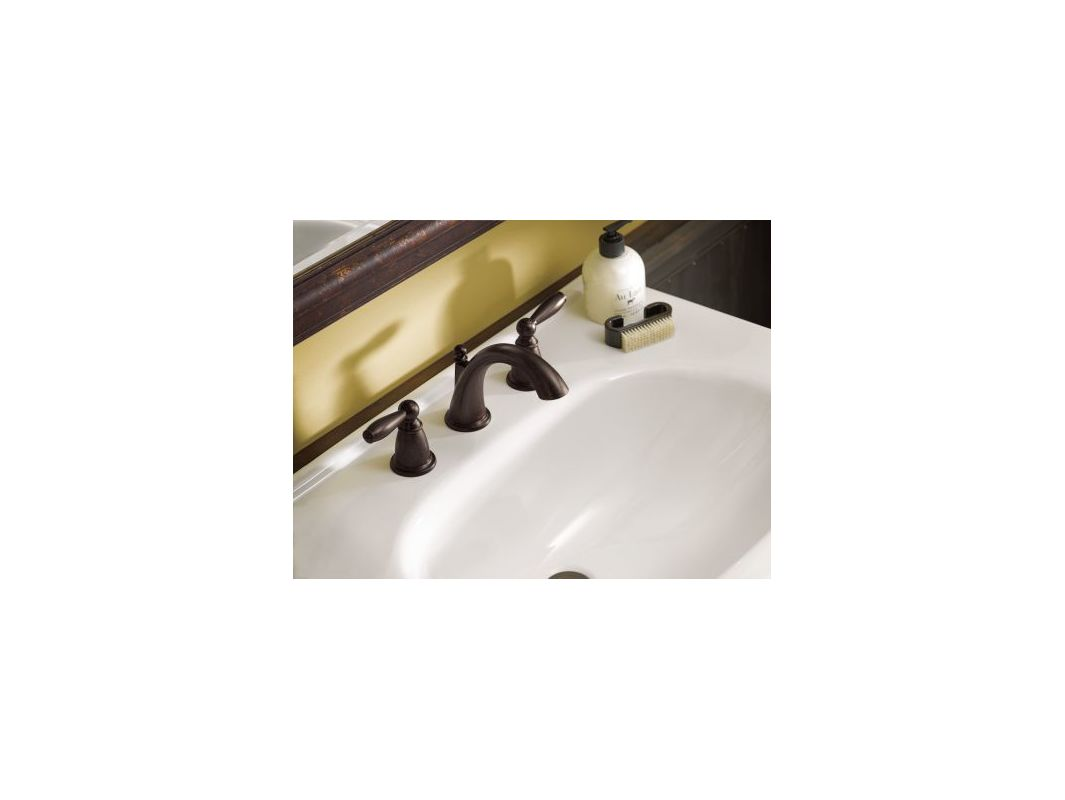 Moen T6620ORB Oil Rubbed Bronze Brantford 1.2 GPM Widespread ...