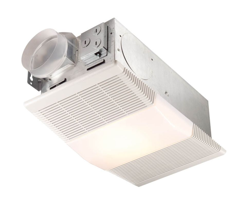 NuTone 665RP White 70 CFM 4 Sone Ceiling Mounted HVI Certified Bath Fan with Heater and Light - VentingDirect.com