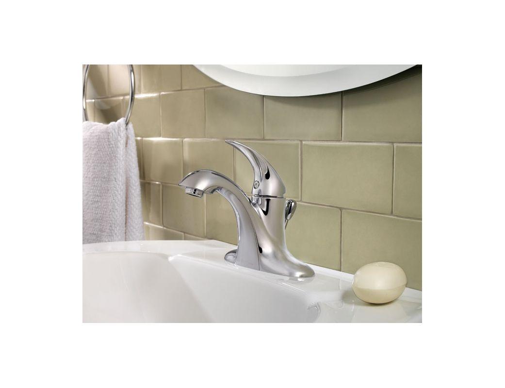 Pfister LG42-SR0K Brushed Nickel Serrano 1.2 GPM Centerset Bathroom ...