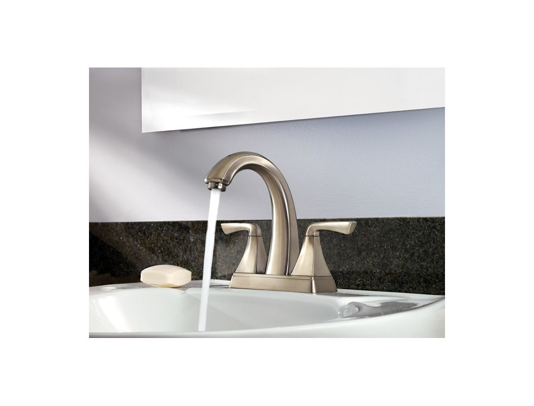 Pfister F 048 SLKK Brushed Nickel Selia Centerset Bathroom Sink Faucet    Faucet com. Pfister F 048 SLKK Brushed Nickel Selia Centerset Bathroom Sink
