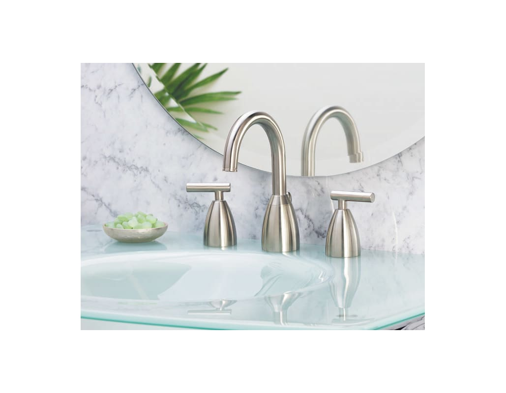Pfister F-049-NK00 Brushed Nickel Contempra Widespread Bathroom Sink ...
