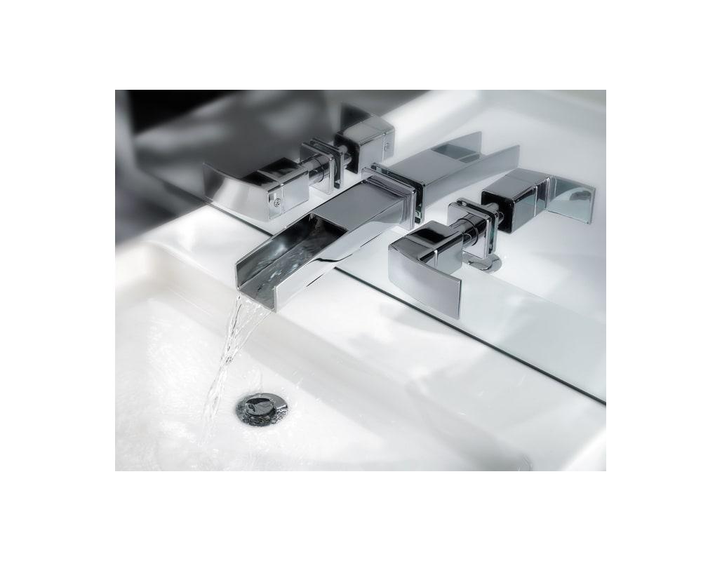 Pfister T49-DF1C Polished Chrome Kenzo Widespread Bathroom Sink ...