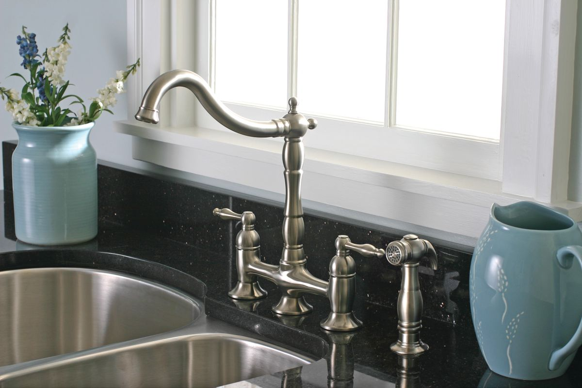 Premier 120344LF Chrome Charlestown Kitchen Faucet Double Handle ...