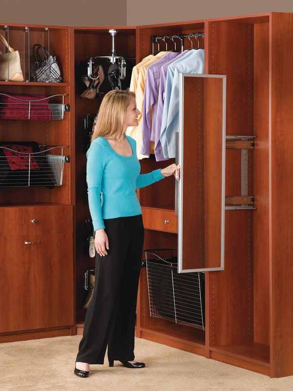 Rev A Shelf CM 1448 ORB 1 Oil Rubbed Bronze CM Series 3 7/16 Inch Wide Pullout  Closet Mirror   PullsDirect.com