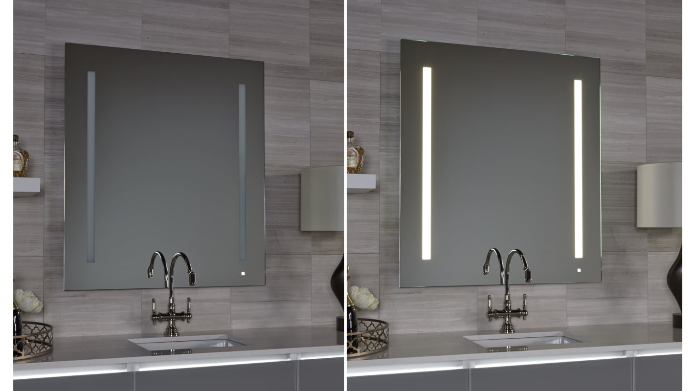 Robern Am2430rfpa Mirrored Aio Wall Mirror With Lum Lighting And Om Audio Faucet