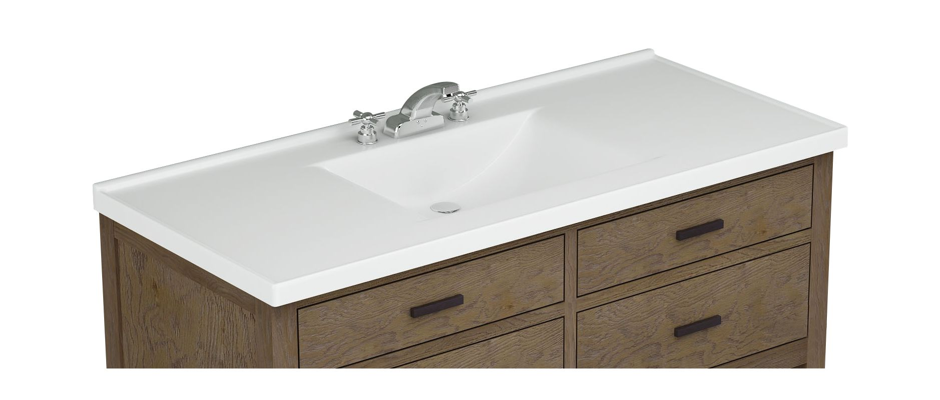 Sagehill Designs Wb4922 W White 49 Cultured Marble Vanity Top With Integrated Sink Faucet