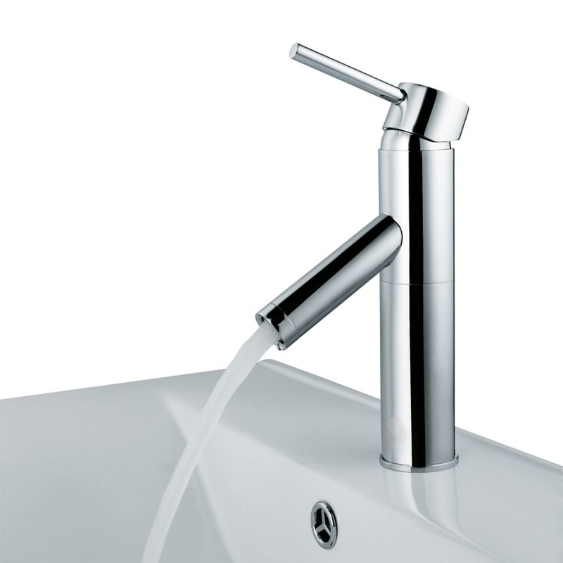 Vigo VG01008CH Chrome Alicia Single Hole Bathroom Faucet with ...