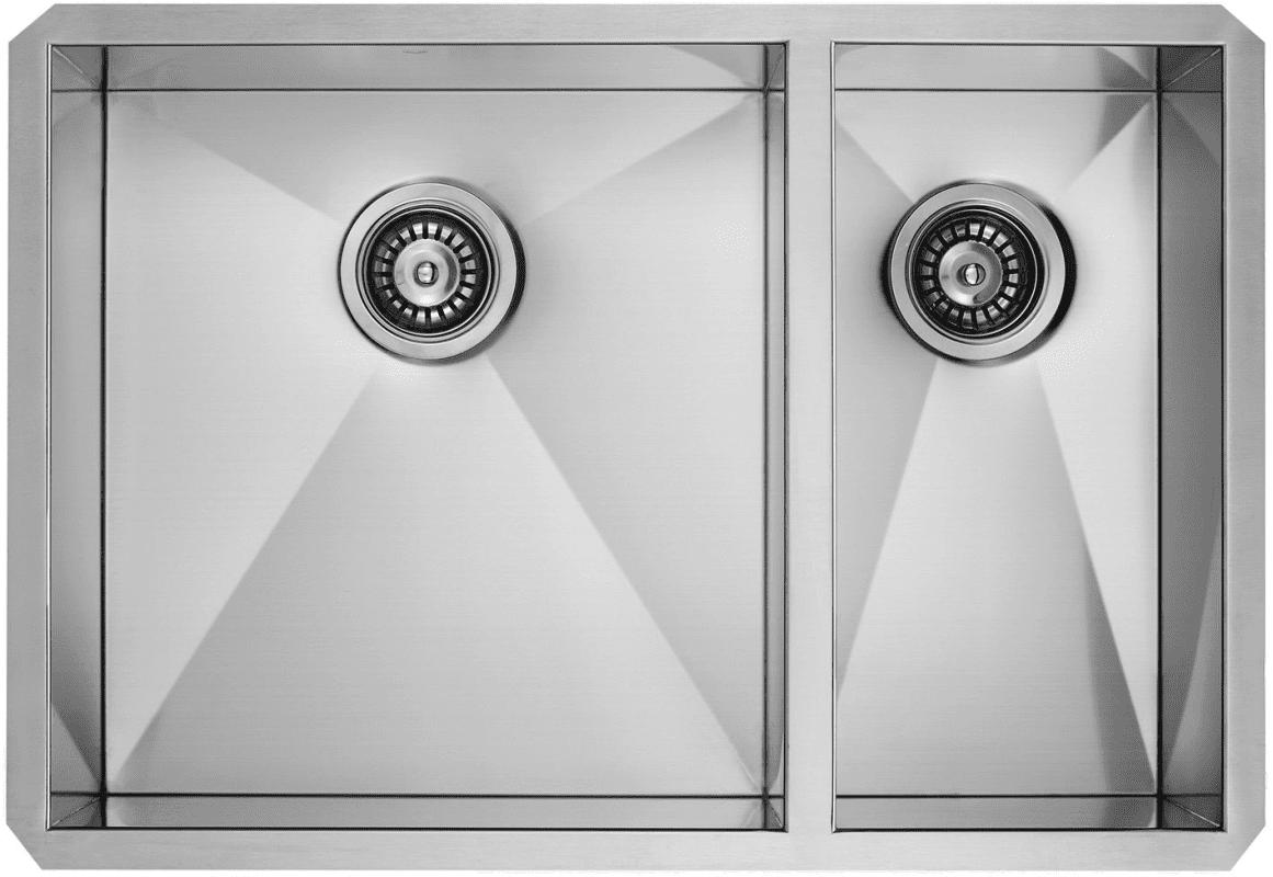 "Vigo VG2920BLK1 Stainless Steel 29"" Double Basin Undermount Kitchen ... for Kitchen Sink Top View Png  10lpwja"