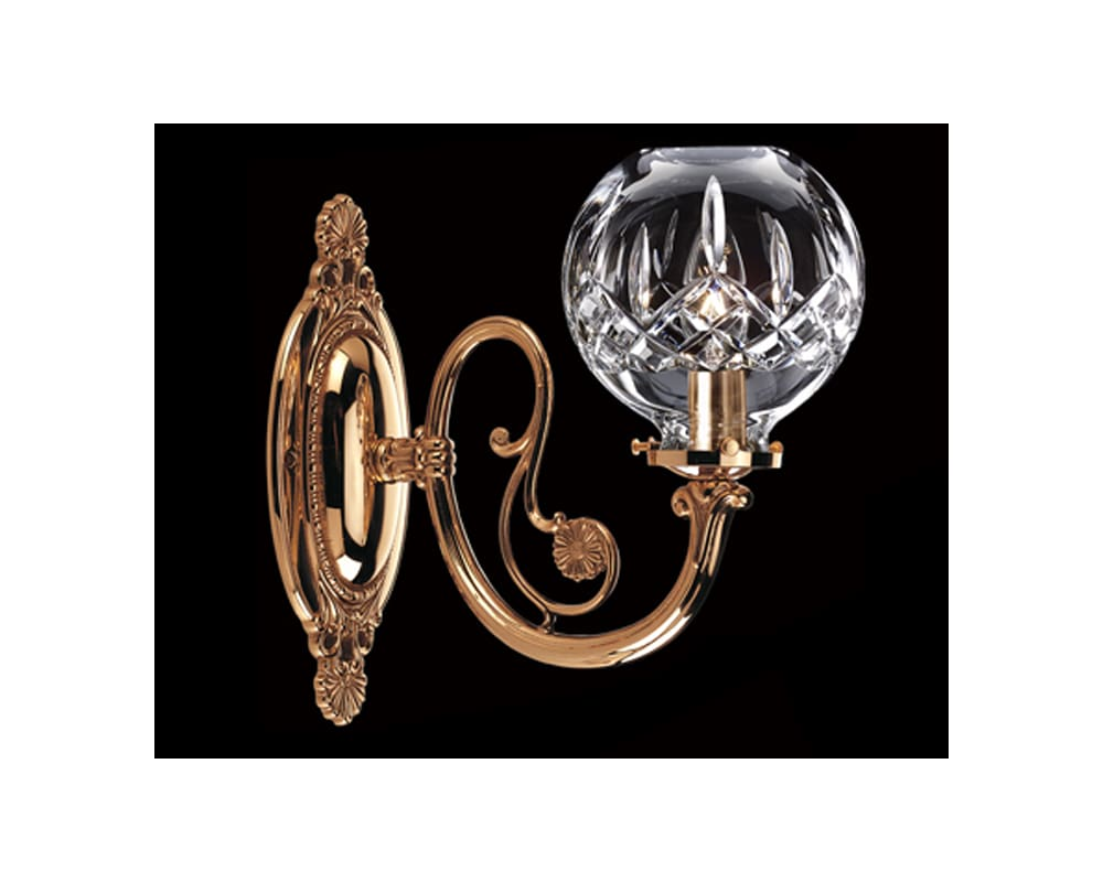 Waterford 8793180515 polished brass crystal up lighting wall waterford 8793180515 polished brass crystal up lighting wall sconce from the lismore collection lightingdirect arubaitofo Gallery