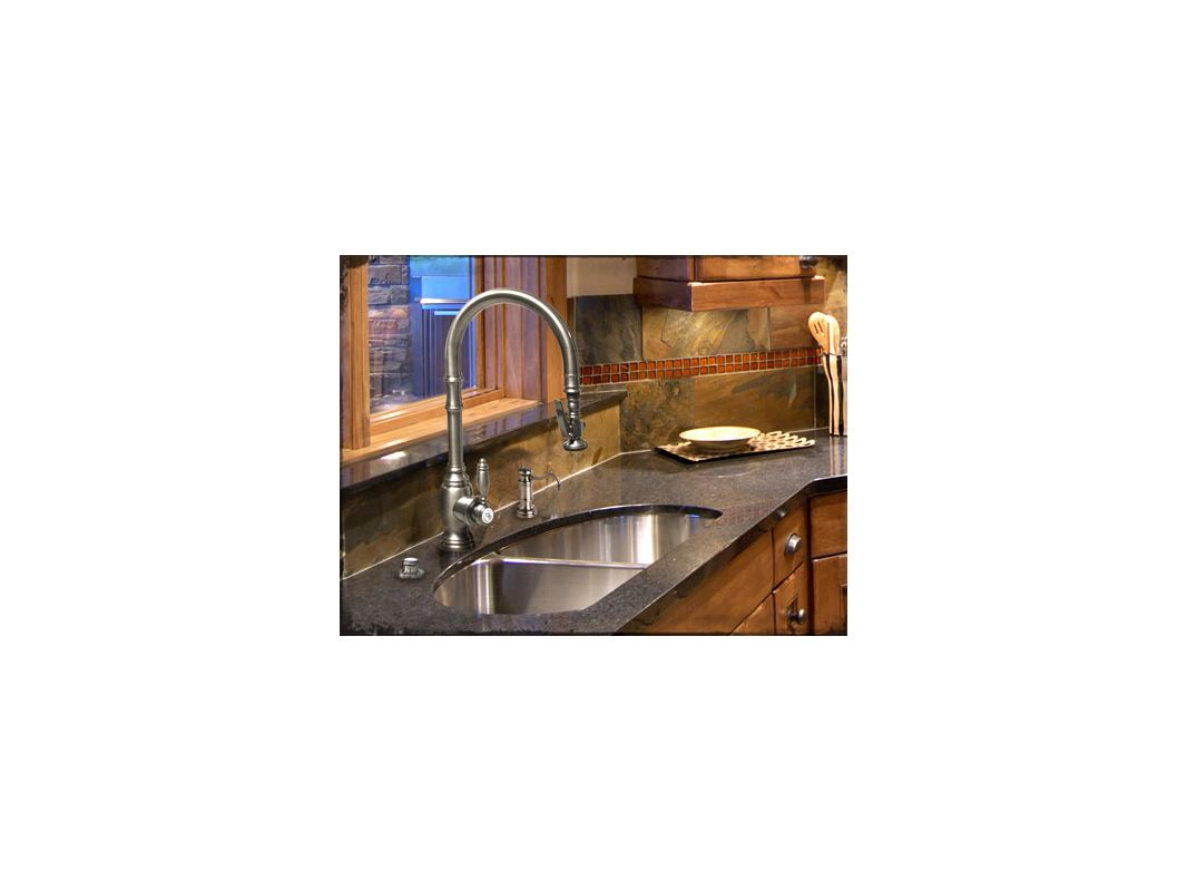Waterstone 5500-CH Chrome Annapolis Pull Out Spray High-Arc Kitchen ...