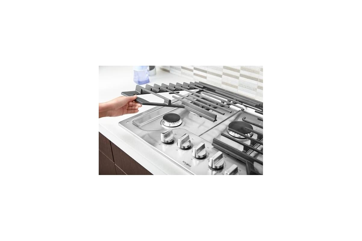 d52c9dd0f99 Whirlpool WCG97US0HS Stainless Steel 30 Inch Wide Built-In Gas Cooktop with  Five Accusimmer Burners