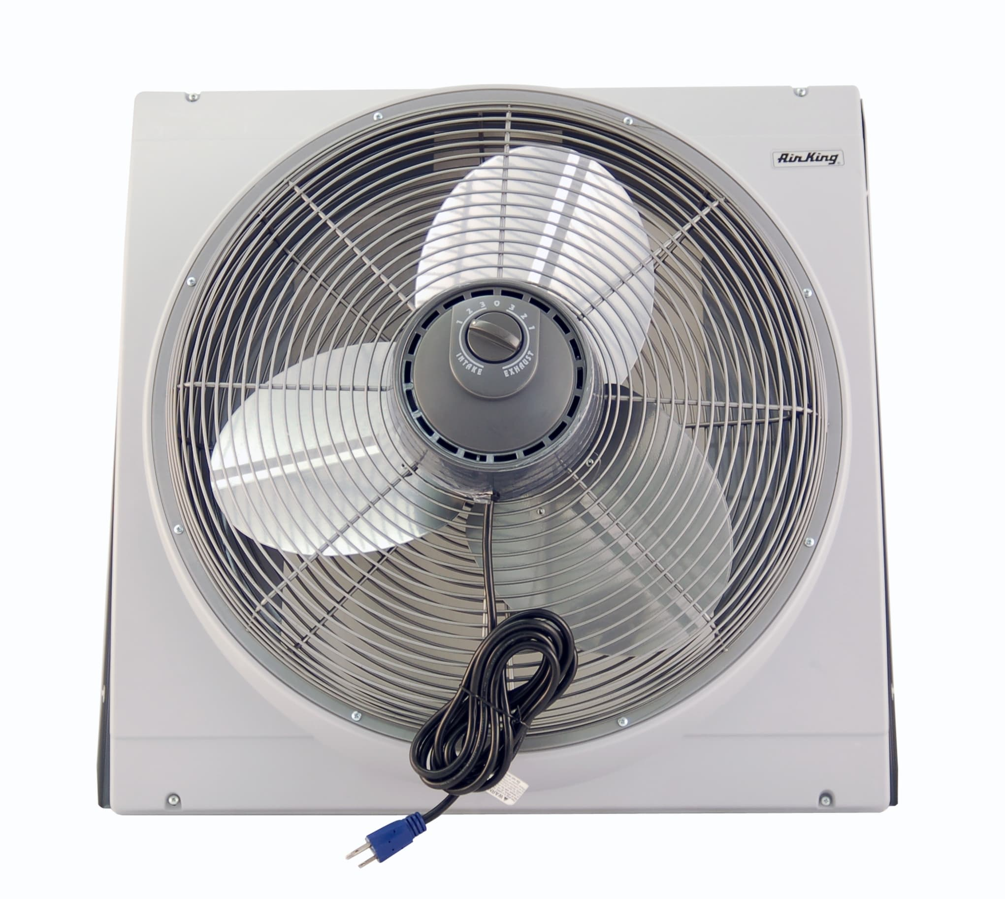 Air King 9166F NA 20 Inch 3560 CFM Whole House Window Mounted Fan with  Storm Guard Housing from the Window Fans Collection   VentingDirect com. Air King 9166F NA 20 Inch 3560 CFM Whole House Window Mounted Fan