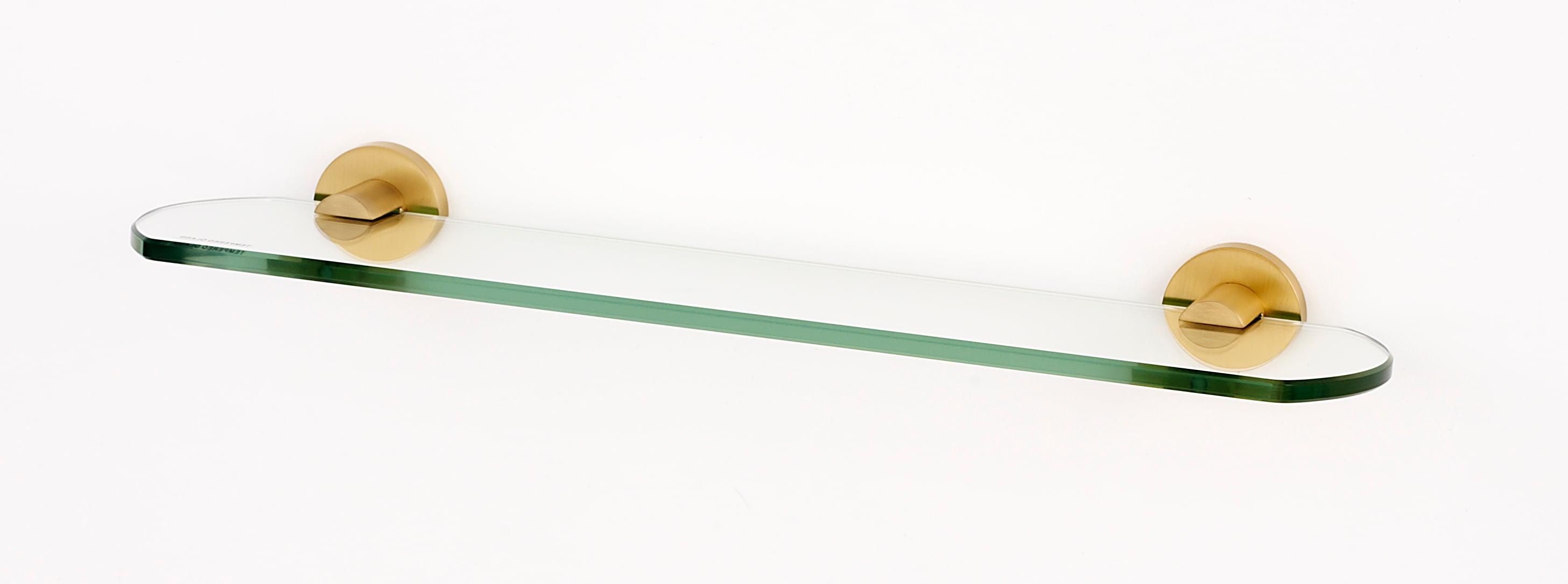 Alno A8350 24 Sb Satin Brass Contemporary I 24 Inch Glass