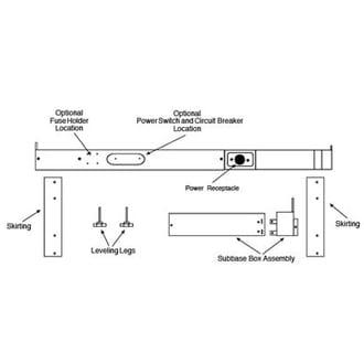 Sub Base Kit For 230 208 Volt 15 20 Amp Amana Ptac Unit