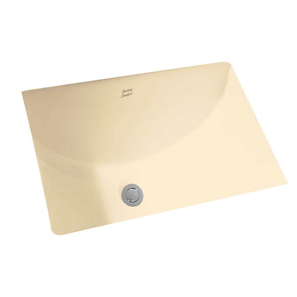 American Standard 0618 000 021 Bone Studio 21 1 8 Undermount Porcelain Bathroom Sink Faucet