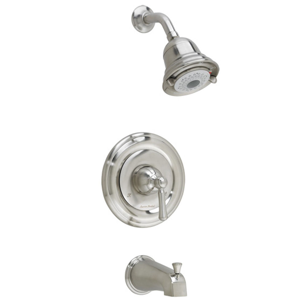 American Standard T420.502.295 Satin Nickel Portsmouth Tub And Shower Trim  Package With Multi Function Shower Head , Diverter Tub Spout, And FloWise  Turbine ...