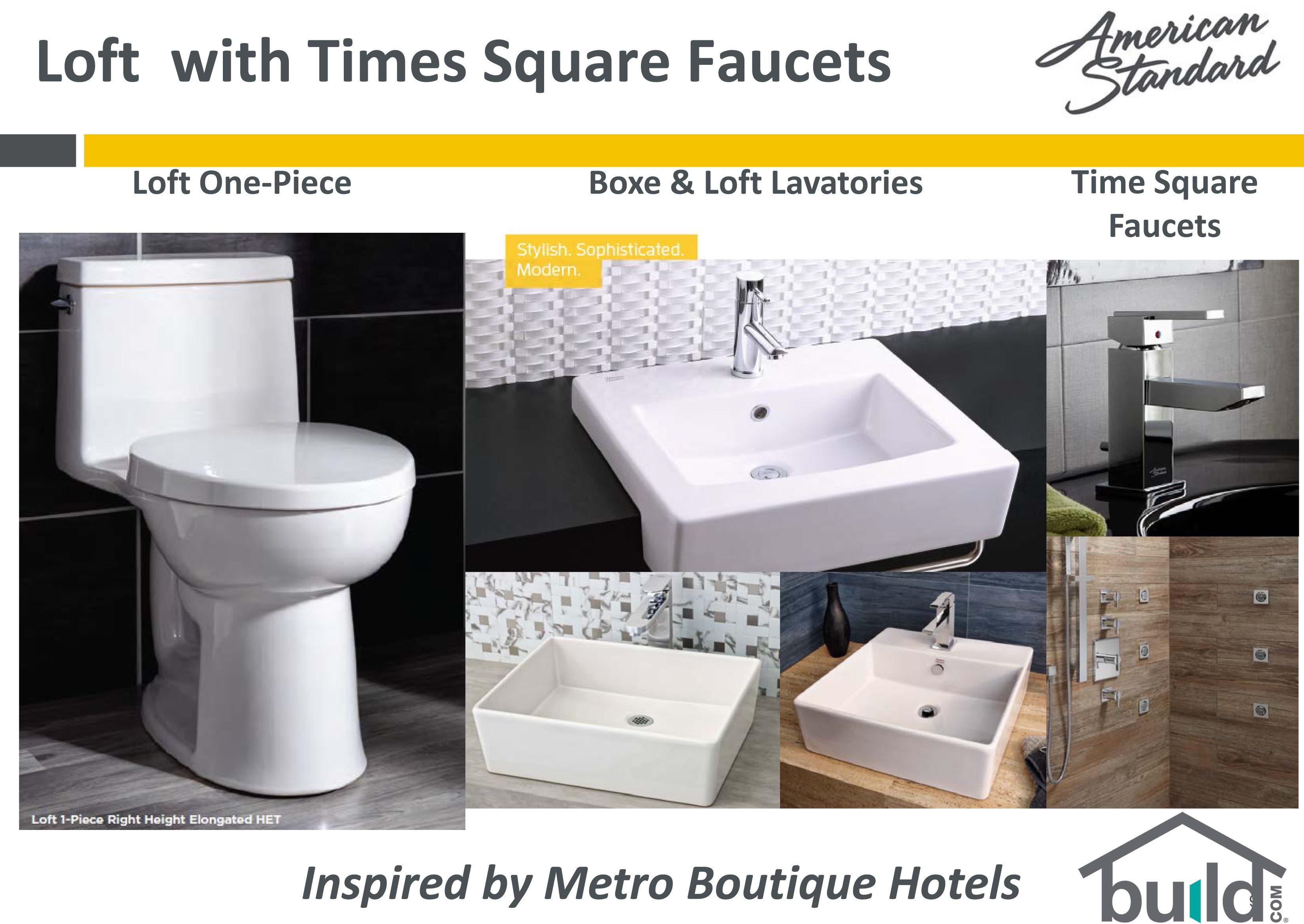 American Standard White Loft Vessel Fireclay - One piece bathroom sink faucet